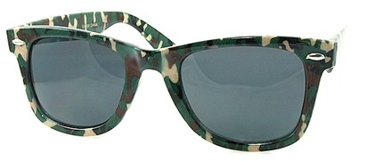 Angle of SW Retro Camouflage Style #1607 in Hunter and Red Frame, Women's and Men's
