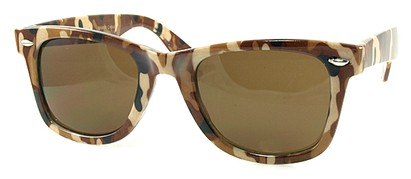 Angle of SW Retro Camouflage Style #1607 in Brown Frame, Women's and Men's