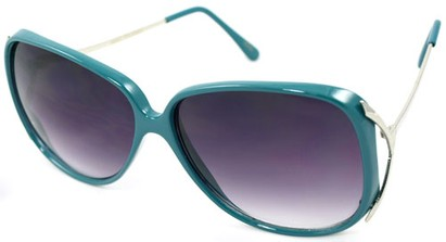 Angle of SW Oversized Style #503 in Teal Frame, Women's and Men's