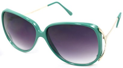 Angle of SW Oversized Style #503 in Green Frame, Women's and Men's