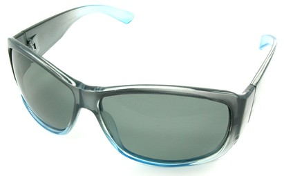 Angle of SW Polarized Style #45 in Blue Fade Frame, Women's and Men's