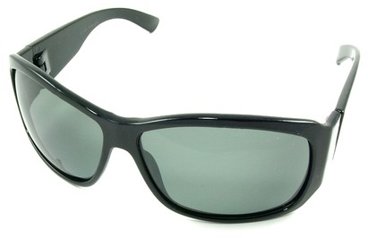 Angle of SW Polarized Style #45 in Black Frame, Women's and Men's