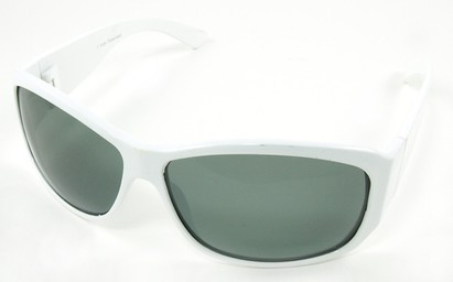 Angle of SW Polarized Style #45 in White Frame, Women's and Men's