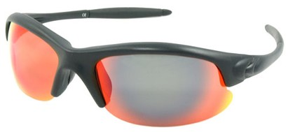 Angle of SW Polarized Style #5137 in Black Frame with Orange Lenses, Women's and Men's