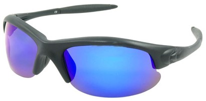 Angle of SW Polarized Style #5137 in Black Frame with Blue Lenses, Women's and Men's