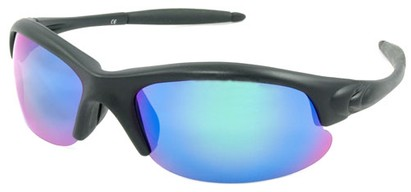 Angle of SW Polarized Style #5137 in Black Frame with Green Lenses, Women's and Men's