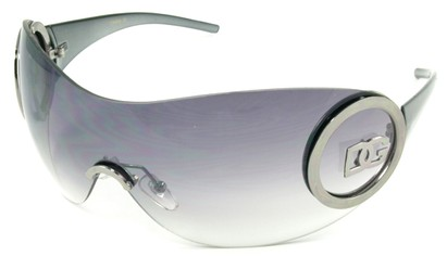 Angle of SW Rimless Shield Style #121 in Gray Frame, Women's and Men's