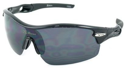 Angle of SW Sport Style #1938 in Black Frame with Smoke Lens, Women's and Men's