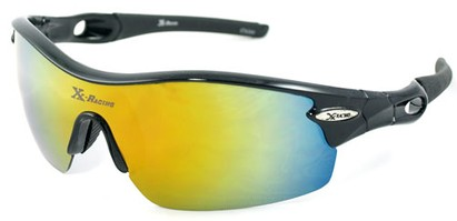 Angle of SW Sport Style #1938 in Black Frame with Yellow Lens, Women's and Men's