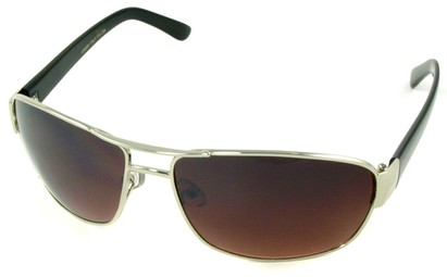 Angle of SW Aviator Driving Style #223 in Silver Frame, Women's and Men's