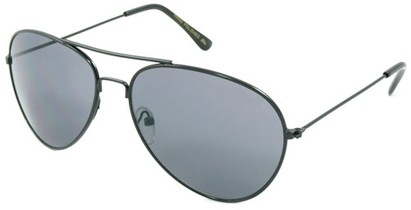 Angle of SW Neon Aviator Style #234 in Black Frame, Women's and Men's