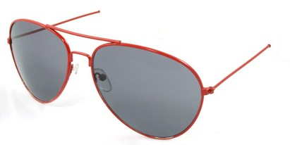 Angle of SW Neon Aviator Style #234 in Red Frame, Women's and Men's