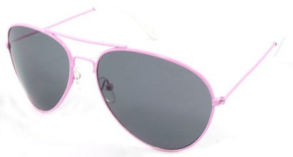 Angle of SW Neon Aviator Style #234 in Pink Frame, Women's and Men's