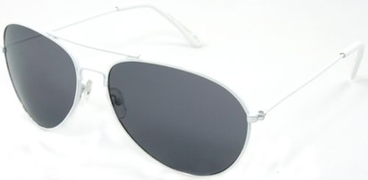 Angle of SW Neon Aviator Style #234 in White Frame, Women's and Men's