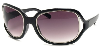 Angle of SW Oversized Style #17806 in Black Frame, Women's and Men's