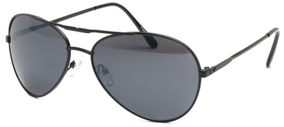 Angle of SW Aviator Style #435 in Black Frame, Women's and Men's