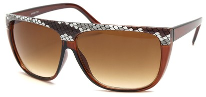 Angle of SW Snake Print Style #8817 in Brown Frame, Women's and Men's