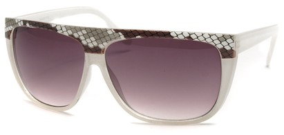 Angle of SW Snake Print Style #8817 in White Frame, Women's and Men's