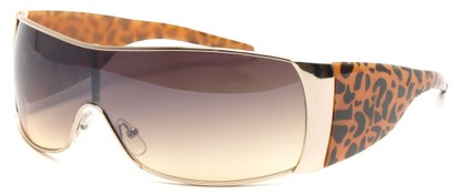 Angle of SW Animal Print Style #474 in Gold and Tan Leopard Frame, Women's and Men's