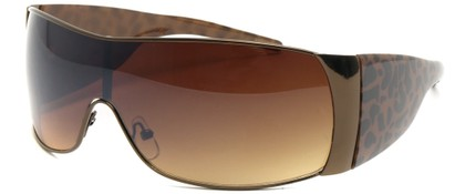 Angle of SW Animal Print Style #474 in Bronze and Brown Leopard Frame, Women's and Men's