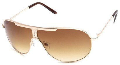 Angle of SW Aviator Style #500 in Gold Frame, Women's and Men's