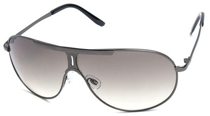 Angle of SW Aviator Style #500 in Grey Frame with Smoke Lenses, Women's and Men's