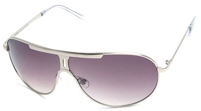 Angle of SW Aviator Style #500 in Silver Frame with Smoke Lenses, Women's and Men's
