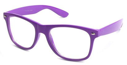 Angle of SW Clear Retro Style #5011 in Bright Purple, Women's and Men's