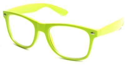 Angle of SW Clear Retro Style #5011 in Yellow, Women's and Men's