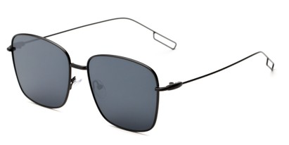 Angle of Sanibel #5105 in Black Frame with Grey Tinted Lenses, Women's Square Sunglasses