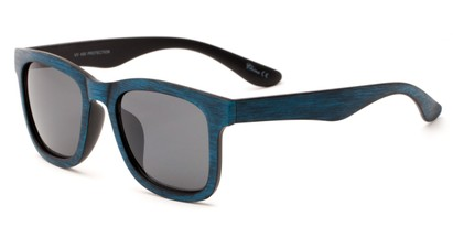 Angle of Sansome #5027 in Blue Frame with Grey Lenses, Women's and Men's Retro Square Sunglasses