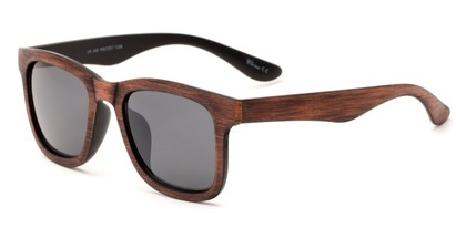 Angle of Sansome #5027 in Brown Frame with Grey Lenses, Women's and Men's Retro Square Sunglasses