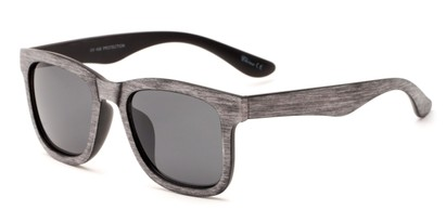 Angle of Sansome #5027 in Light Grey Frame with Grey Lenses, Women's and Men's Retro Square Sunglasses