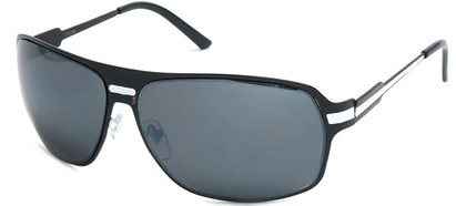 Angle of SW Aviator Style #5078 in Black and White Frame, Women's and Men's