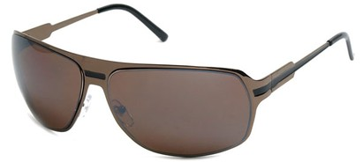 Angle of SW Aviator Style #5078 in Bronze and Black Frame, Women's and Men's