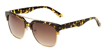 Angle of Carter #5135 in Yellow Tortoise Frame  with Amber Lenses, Women's and Men's Browline Sunglasses