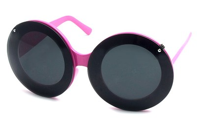 Angle of SW Celebrity Style #513 in Pink Frame with Clear Lenses, Women's and Men's