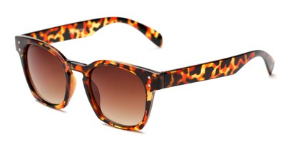 Angle of Slade #15301 in Red Tortoise Frame with Amber Lenses, Women's and Men's Square Sunglasses