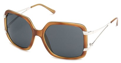 Angle of SW Oversized Style #238 in Light Brown Frame, Women's and Men's