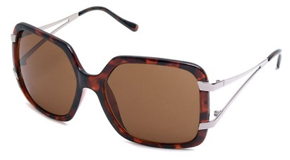 Angle of SW Oversized Style #238 in Tortoise Frame, Women's and Men's