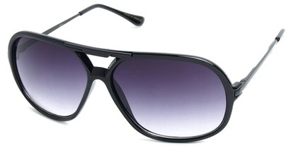 Angle of SW Aviator Style #540433 in Black with Black, Women's and Men's