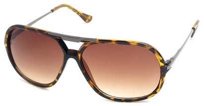 Angle of SW Aviator Style #540433 in Brown Tortoise, Women's and Men's