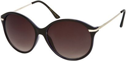 Angle of SW Oversized Retro Style #1628 in Black/Purple Frame, Women's and Men's