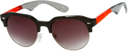 Angle of SW Retro Style #559 in Black/Red Frame with Smoke Lenses, Men's Select... Select...