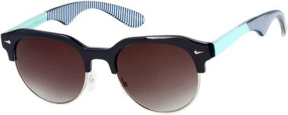 Angle of SW Retro Style #559 in Navy Blue/Mint Frame with Smoke Lenses, Men's Select... Select...