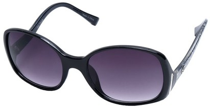 Angle of SW Oversized Style #408 in Black and Silver Frame, Women's and Men's