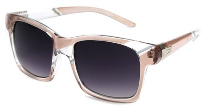 Angle of SW Striped Retro Style #537 in Pink and Clear Frame, Women's and Men's
