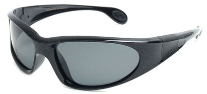 Angle of SW Polarized Sport Style #540150 in Glossy Black with Sparkle, Women's and Men's