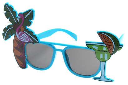 Angle of SW Novelty Sunglasses #540188 in Blue, Women's and Men's