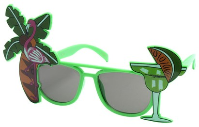 Angle of SW Novelty Sunglasses #540188 in Green, Women's and Men's